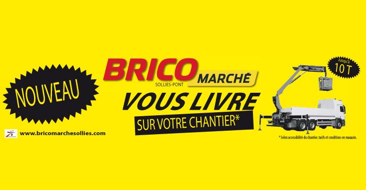 Bricomarché sollies livre les chantier pour tous les matériaux de construction BTP