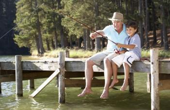 peche enfant senior lac