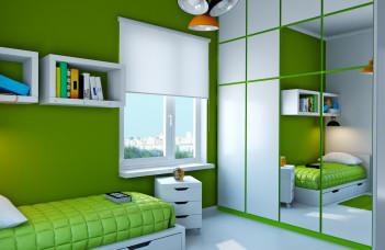 studio étudiant vert