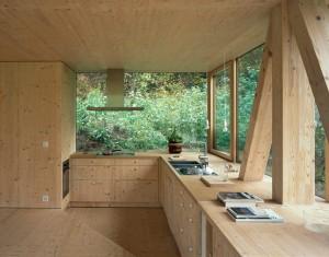 Intérieur cuisine en bois
