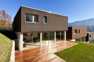 villa d'architecte avec biaes coulissantes