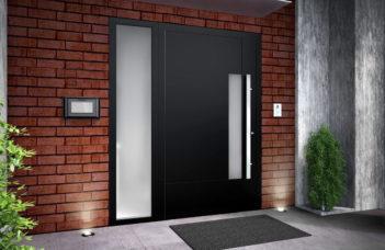 porte d entree metal noire