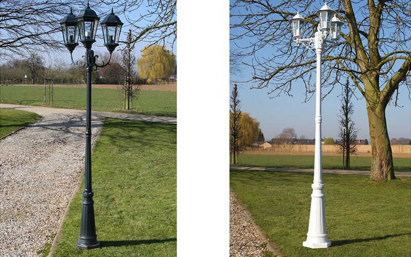Décoration lampadaire d'extérieur