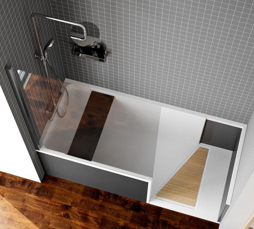 douche sur mesure et adaptée au sénior et handicapés