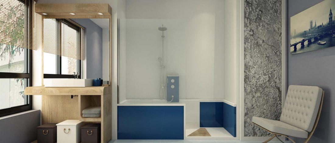 evolyo concept de douche sur mesure a accessibilité réduite